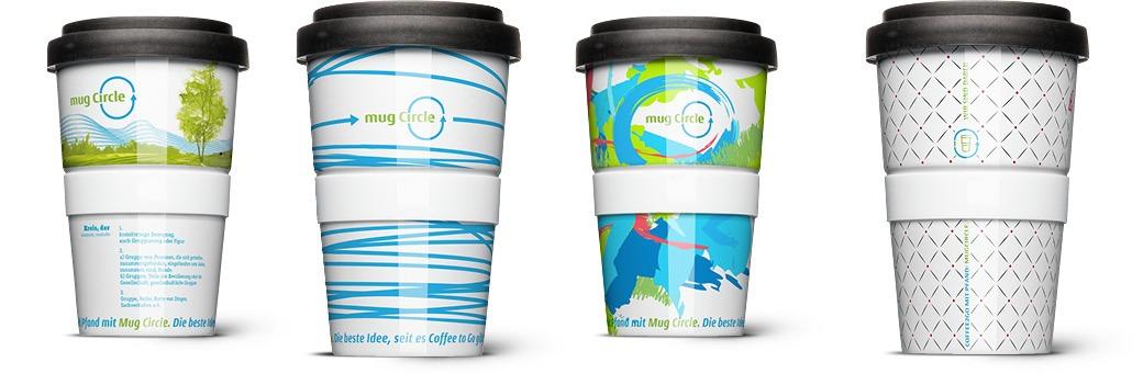Coffee to go Mehrweg Becher Design von Ingo Moeller