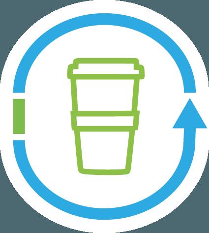 Coffee to go Mehrweg Logo von Ingo Moeller