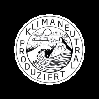 Logo Klimaneutral Kampagne Meer und Berge