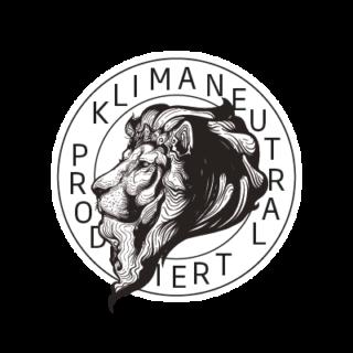 Logo Klimaneutral Kampagne Löwe