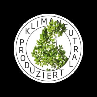 Logo Klimaneutral Kampagne grüne Zweige