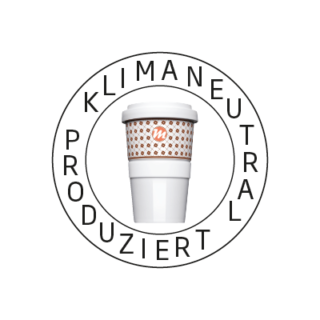 Logo Klimaneutral Kampagne Coffe to go Becher