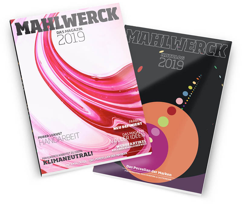 Titel Magalog Magazin-Katalog für Mahlwerck Porzellan 2019 by Ingo Moeller
