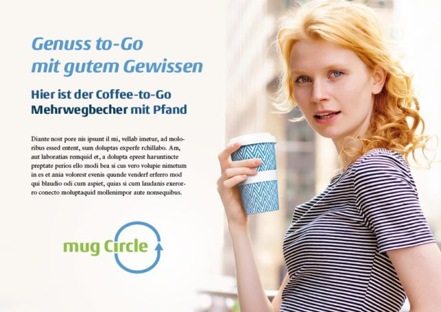 Mug Circle Markenkommunikation Genuss to go mit gutem Gewissen