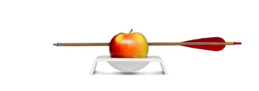 porzellanschale mit Apfel wilhelm tell markenziel