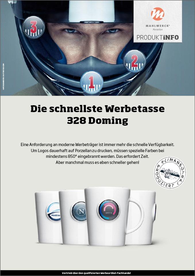 b2b marke im marketing salesfolder Porzellan Werbetasse