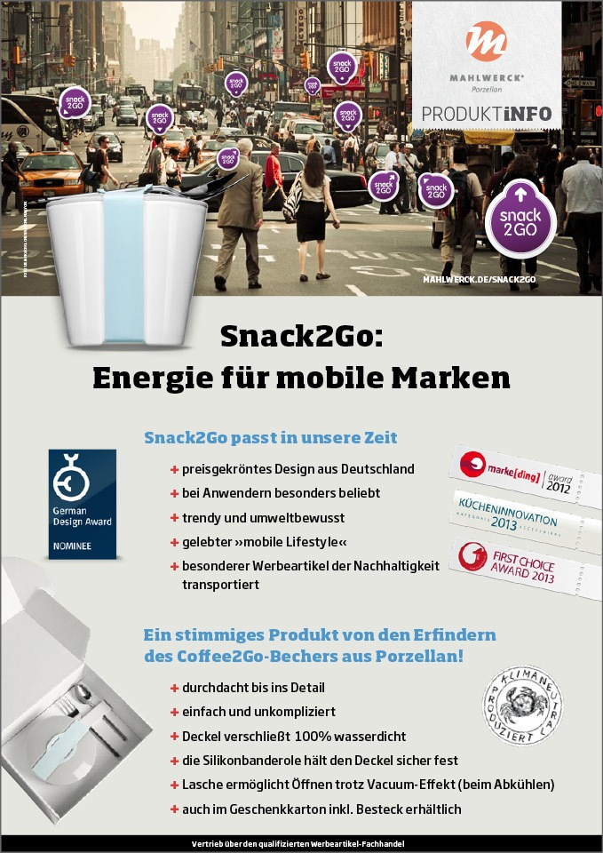 b2b marke im marketing salesfolder Snack to go