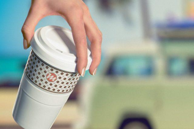 Coffee to go Promotion Motiv Campingbus