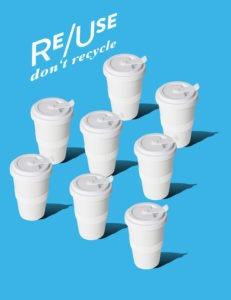 Digitale Marke Coffeecache reuse Plakat