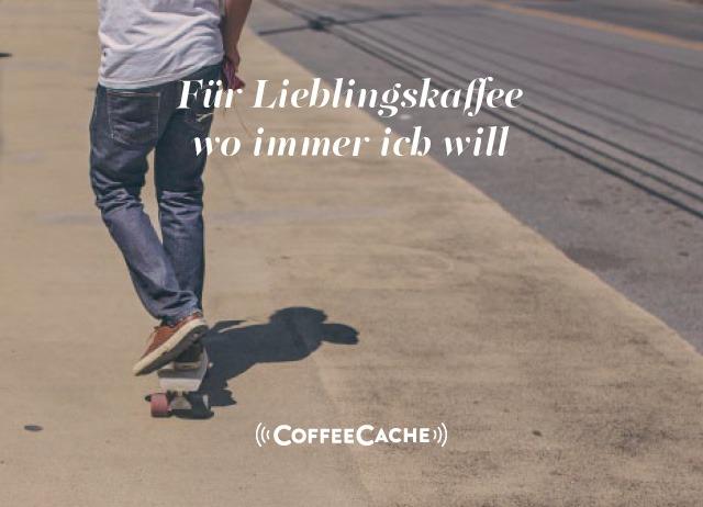Entwicklung digitale Marke CoffeeCache für Lieblingskaffe 2go