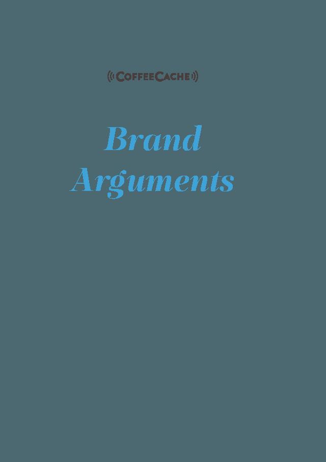 Entwicklung digitale Marke CoffeeCache Brand Arguments