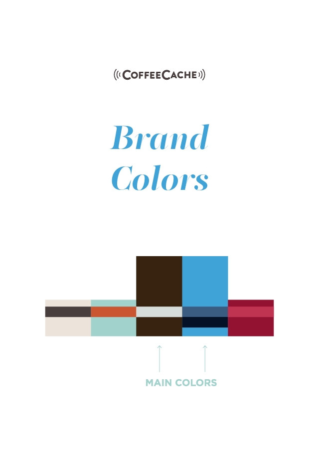 Entwicklung digitale Marke CoffeeCache Brand Colors