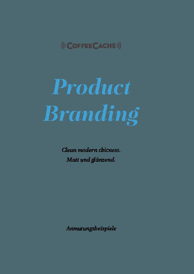 Entwicklung digitale Marke CoffeeCache Product Branding