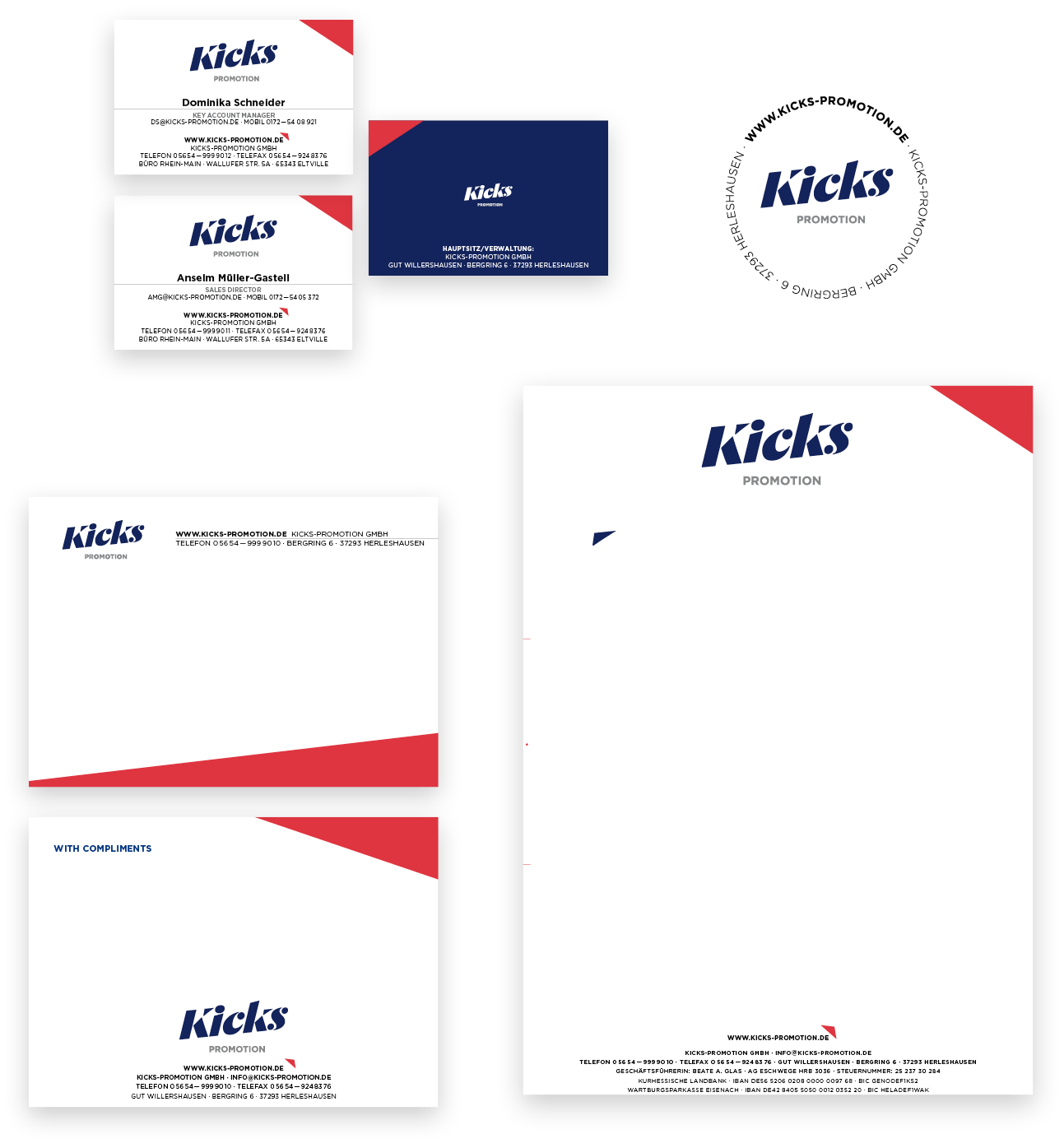 Kicks Markenentwicklung Geschäftsausstattung