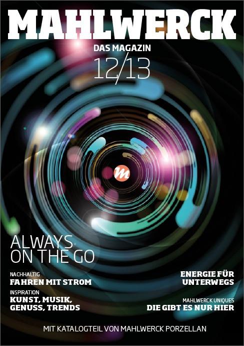 Katalog Mahlwerck-Porzellan 2012 Cover mit Punkte-Design als Markenelement