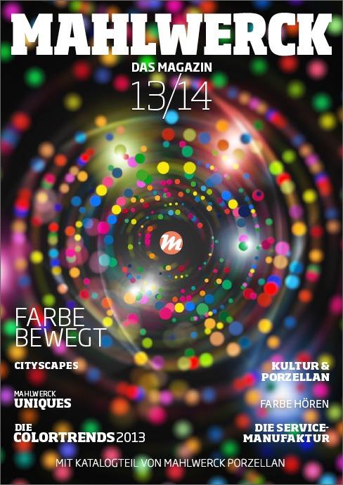 Katalog Mahlwerck-Porzellan 2013 Cover mit Punkte-Design als Markenelement