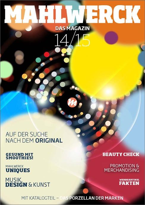 Katalog Mahlwerck-Porzellan 2014 Cover mit Punkte-Design als Markenelement
