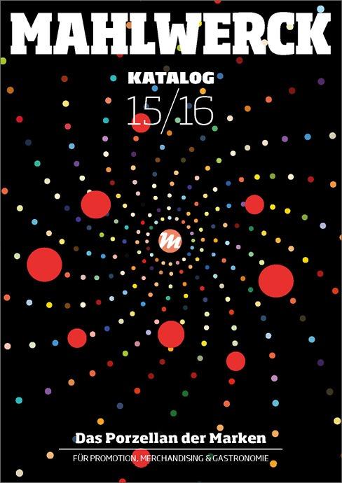Katalog Mahlwerck-Porzellan 2015 Cover mit Punkte-Design als Markenelement