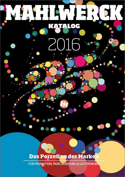 Katalog Mahlwerck-Porzellan 2016 Cover mit Punkte-Design als Markenelement
