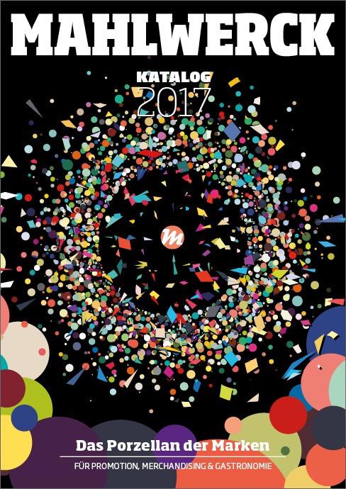 Katalog Mahlwerck-Porzellan 2017 Cover mit Punkte-Design als Markenelement