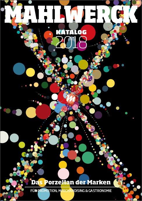 Katalog Mahlwerck-Porzellan 2018 Cover mit Punkte-Design als Markenelement