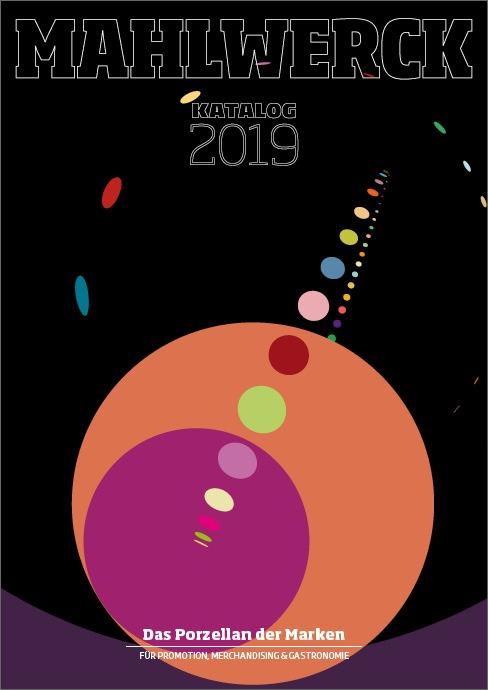 Katalog Mahlwerck-Porzellan 2019 Cover mit Punkte-Design als Markenelement