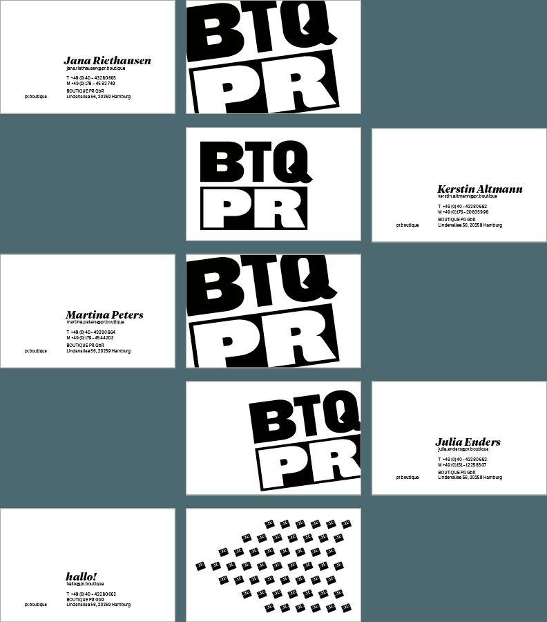 Markenentwicklung Boutique PR Geschäftsausstattung
