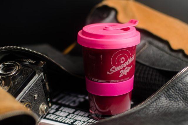 Produktmotiv Marke einfach machen Smoothie to go Becher aus Glas