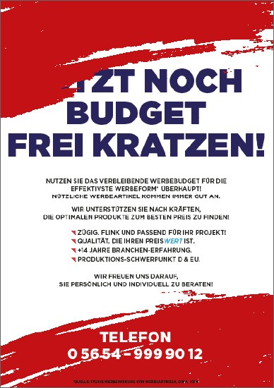 Werbeartikel Händler Mailing Budget