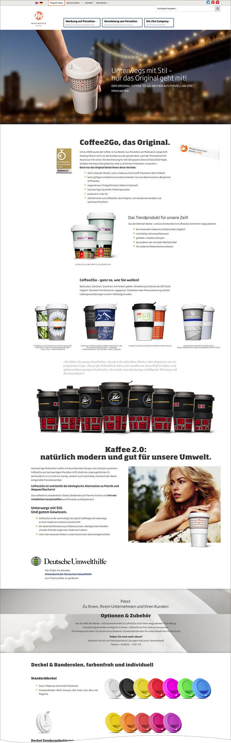 Das Product Special für Coffee to Go - Mahlwerck Website